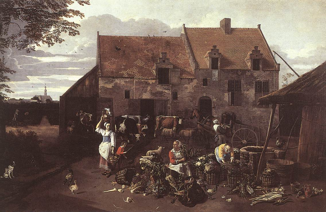 The Market Garden 1664 | Jan Siberechts | Oil Painting