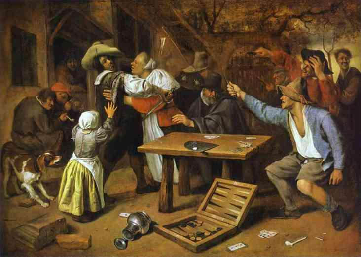 Argument Over A Card Game | Jan Steen | Oil Painting