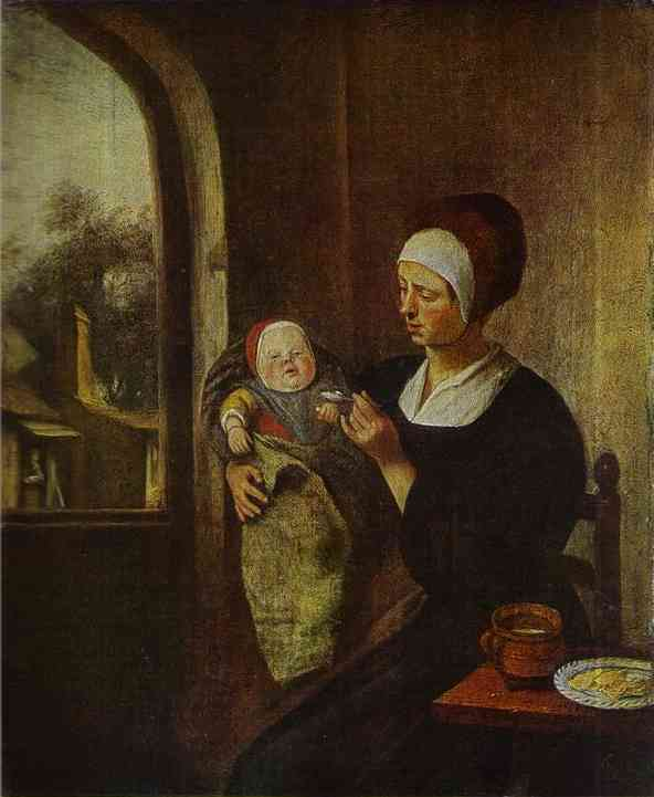 Mother And Child | Jan Steen | Oil Painting
