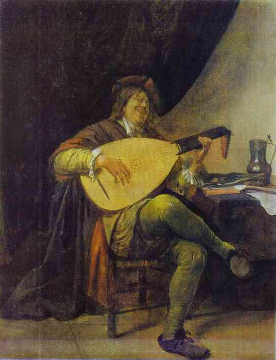 Self Portrait With A Lute 1663-65 | Jan Steen | Oil Painting