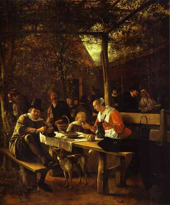 Tavern Garden 1660 | Jan Steen | Oil Painting