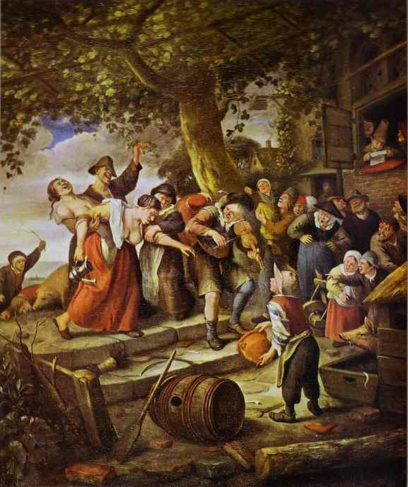 The Drunken Woman | Jan Steen | Oil Painting