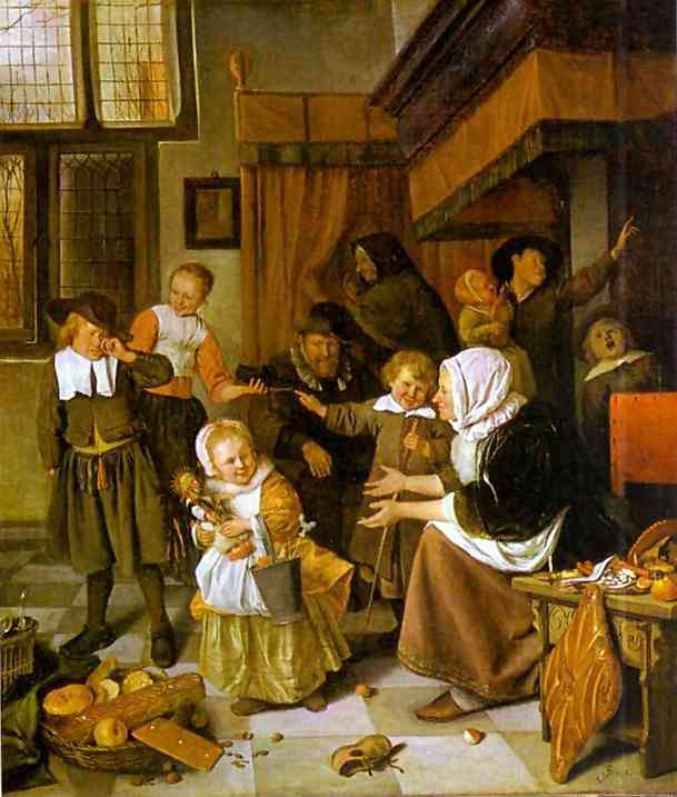 The Feast Of St Nicholas 1660-65 | Jan Steen | Oil Painting