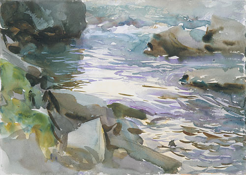 Stream and Rocks | John Singer Sargent | Oil Painting