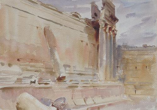Temple of Bacchus Baalbek 1906 | John Singer Sargent | Oil Painting