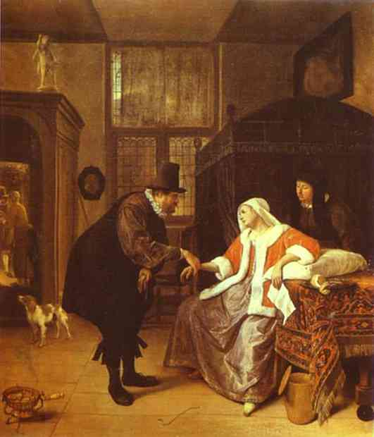 The Lovesick Woman 1660 | Jan Steen | Oil Painting