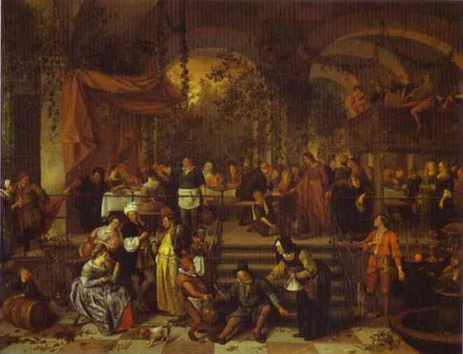 The Marriage Feast At Cana 1665-70 | Jan Steen | Oil Painting