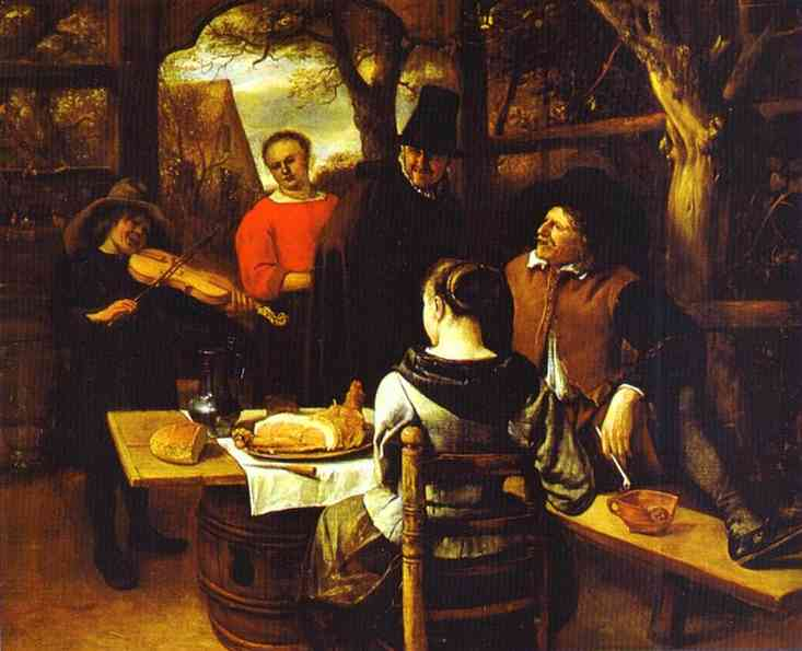 The Meal 1650-60 | Jan Steen | Oil Painting