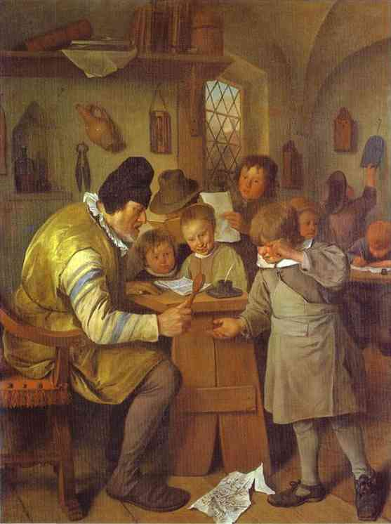 The Village School 1665 | Jan Steen | Oil Painting