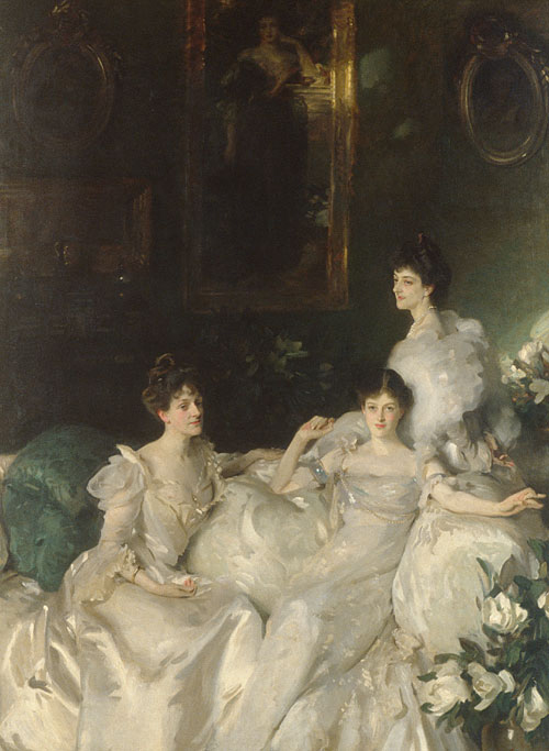 The Wyndham Sisters Lady Elcho Mrs Adeane and Mrs Tennant 1899 | John Singer Sargent | Oil Painting