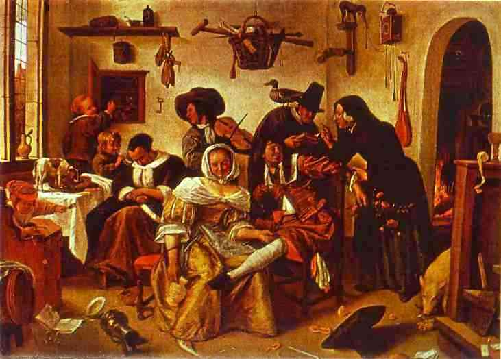 The World Upside Down 1663 | Jan Steen | Oil Painting