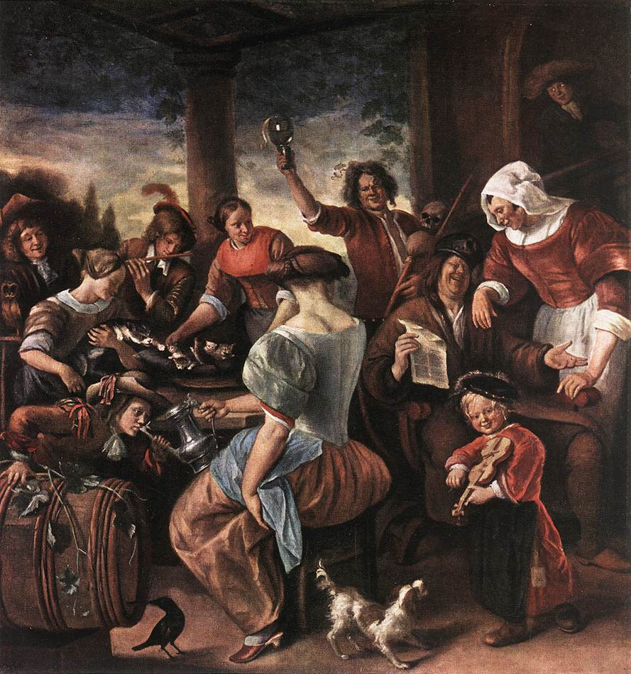 A Merry Party 1660 | Jan Steen | Oil Painting