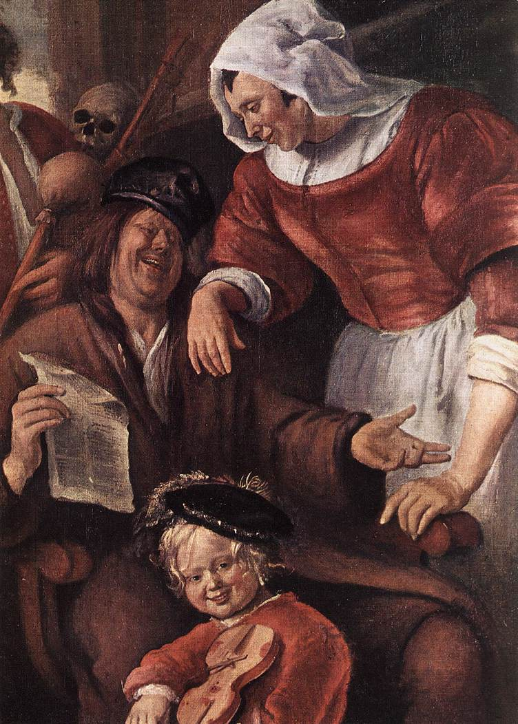 A Merry Party Detail I 1660 | Jan Steen | Oil Painting