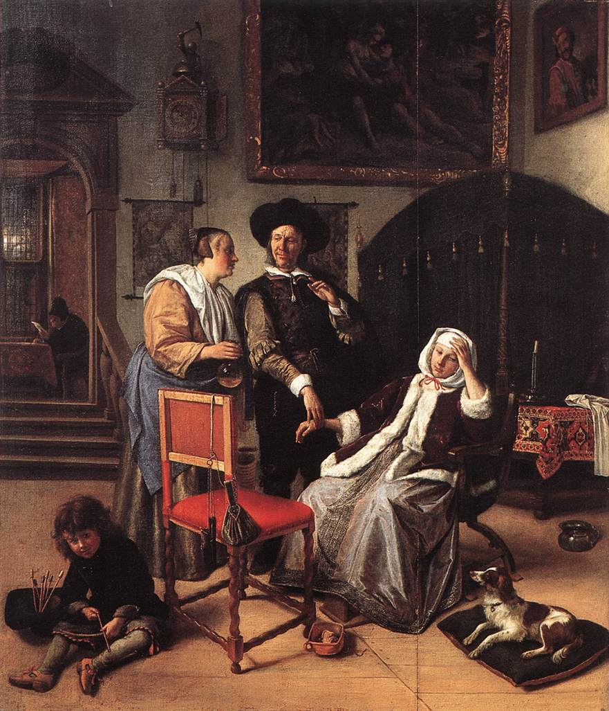 Doctor S Visit 1658-62 | Jan Steen | Oil Painting