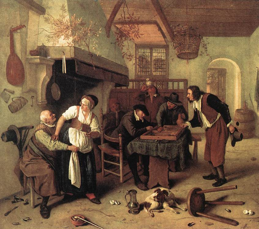 In The Tavern 1660s | Jan Steen | Oil Painting