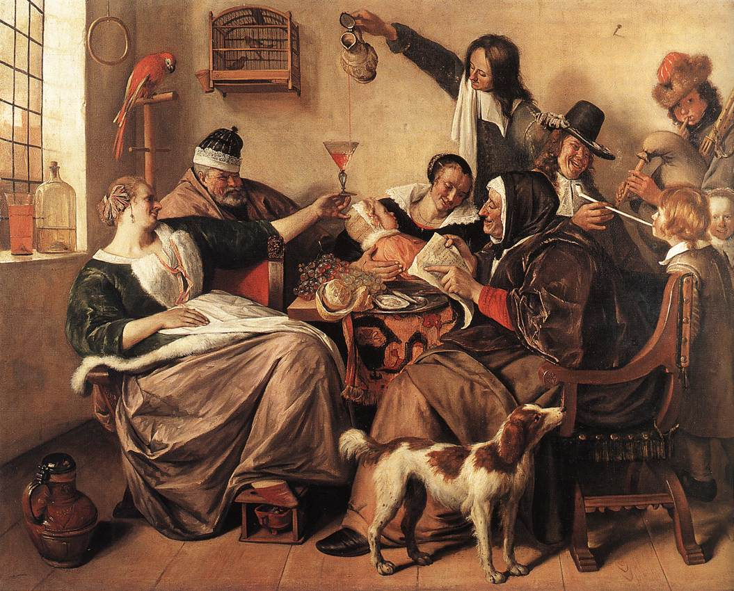 The Artists Family 1663 | Jan Steen | Oil Painting