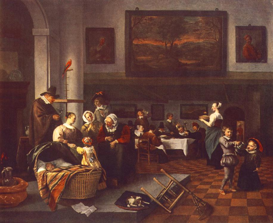 The Christening | Jan Steen | Oil Painting