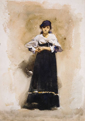 Young Woman with a Black Skirt Early 1880s | John Singer Sargent | Oil Painting