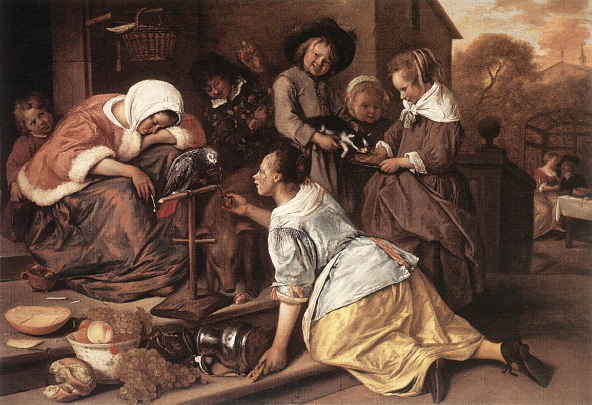 The Effects Of Intemperance 1663-65 | Jan Steen | Oil Painting