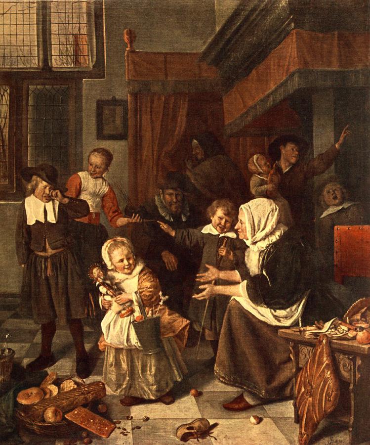 The Feast Of St Nicholas 1665-68 | Jan Steen | Oil Painting