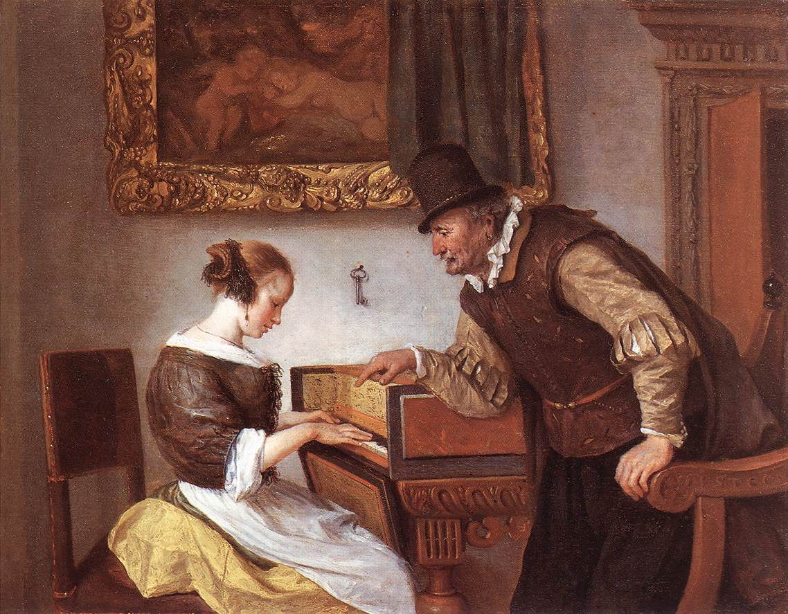The Harpsichord Lesson 1660 | Jan Steen | Oil Painting