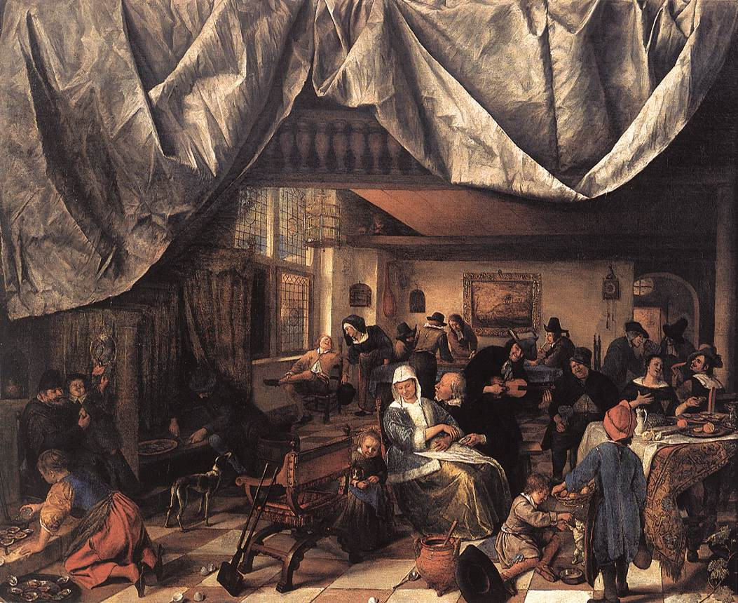 The Life Of Man 1665 | Jan Steen | Oil Painting
