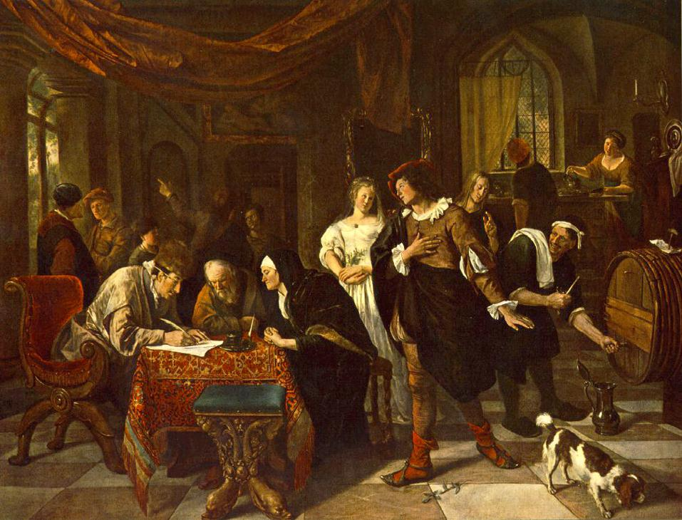 The Marriage | Jan Steen | Oil Painting