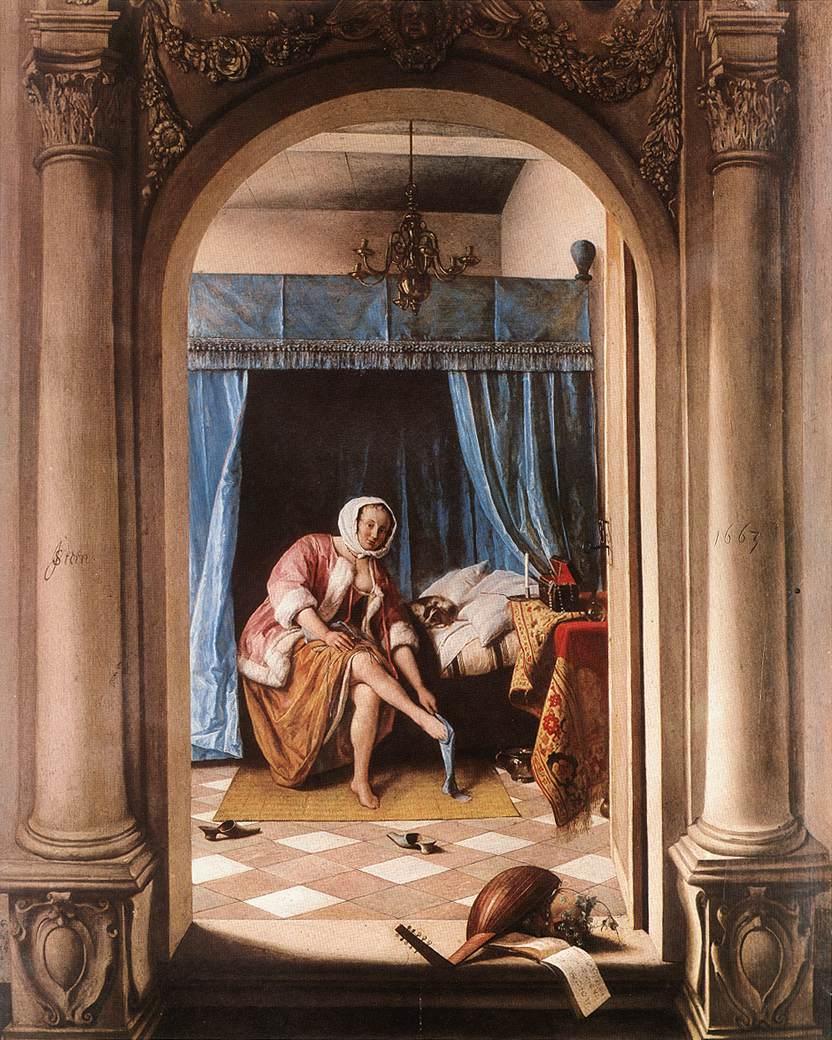 The Morning Toilet 1663 | Jan Steen | Oil Painting