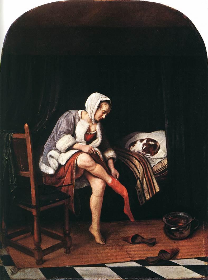 The Morning Toilet 1665 | Jan Steen | Oil Painting