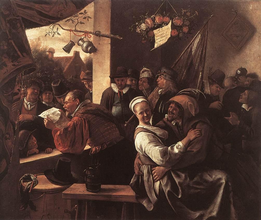 The Rhetoricians In Liefde Vrij 1665 | Jan Steen | Oil Painting