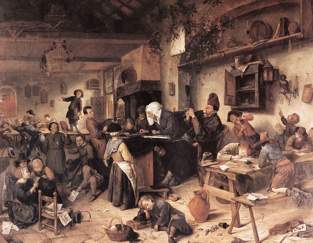 The Village School 1670 | Jan Steen | Oil Painting