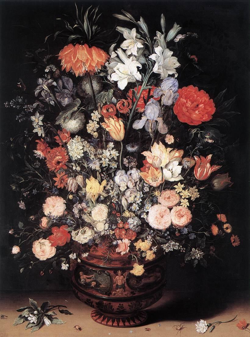 Flowers In A Vase | Jan The Elder Brueghel | Oil Painting