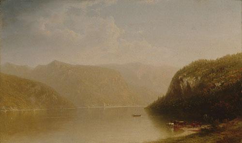 Mountain Lake Scene 1883 | John W Casilear | Oil Painting