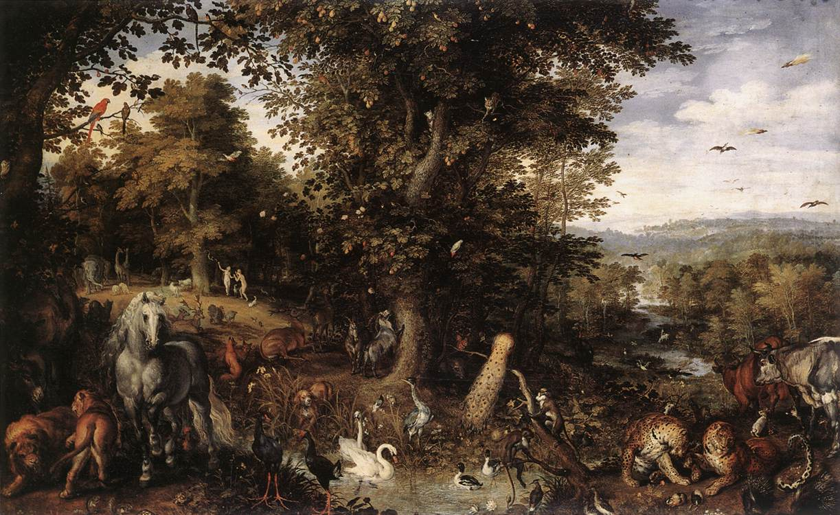 Garden Of Eden 1612 | Jan The Elder Brueghel | Oil Painting