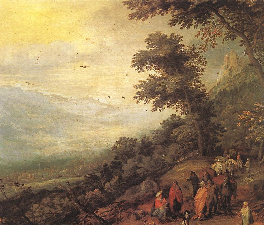 Gathering Of Gypsies In The Wood | Jan The Elder Brueghel | Oil Painting
