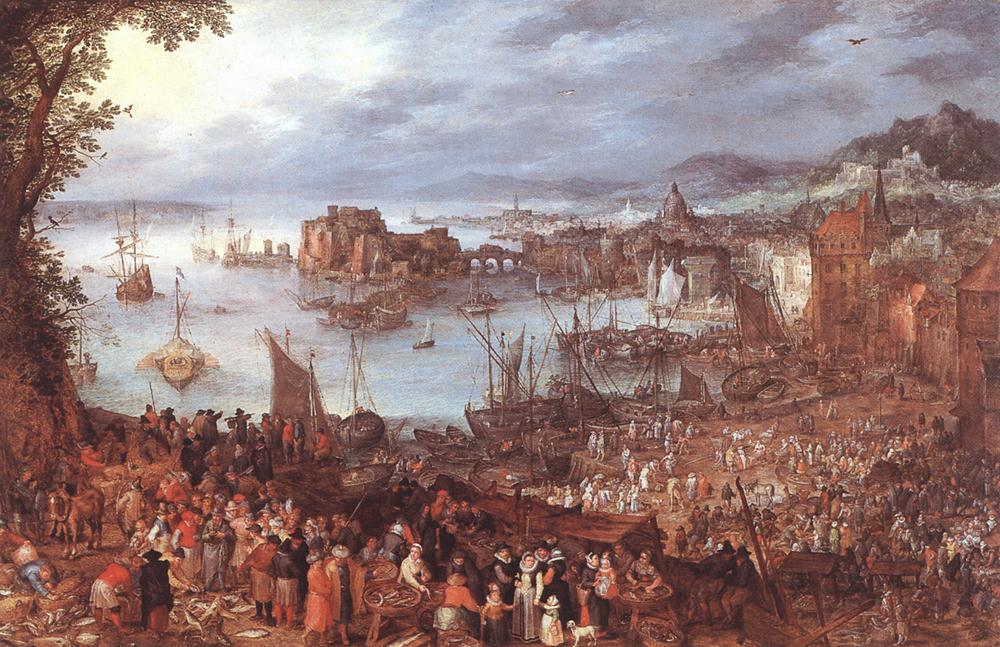 Great Fish-Market 1603 | Jan The Elder Brueghel | Oil Painting