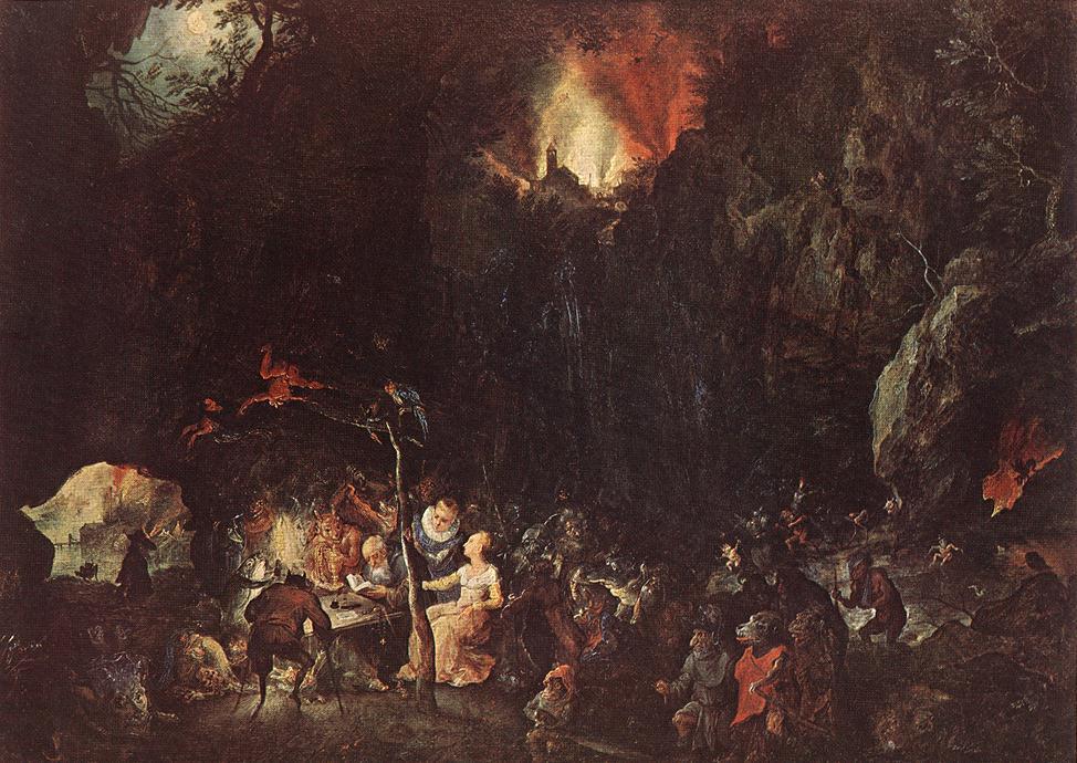 Temptation Of St Anthony   Jan The Elder Brueghel   Oil Painting