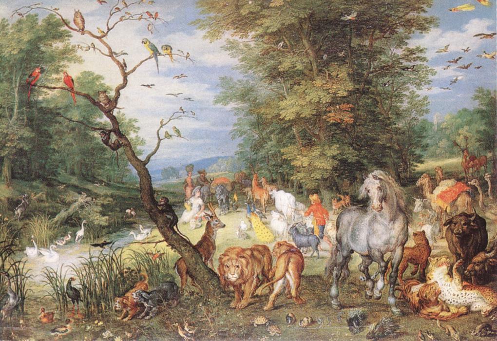 The Animals Entering The Ark 1615   Jan The Elder Brueghel   Oil Painting