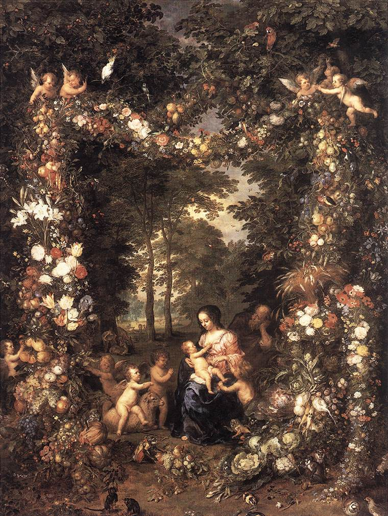 The Holy Family | Jan The Elder Brueghel | Oil Painting