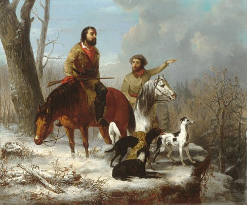 Trappers 1855 | Jonathan K Trego J L Williams | Oil Painting