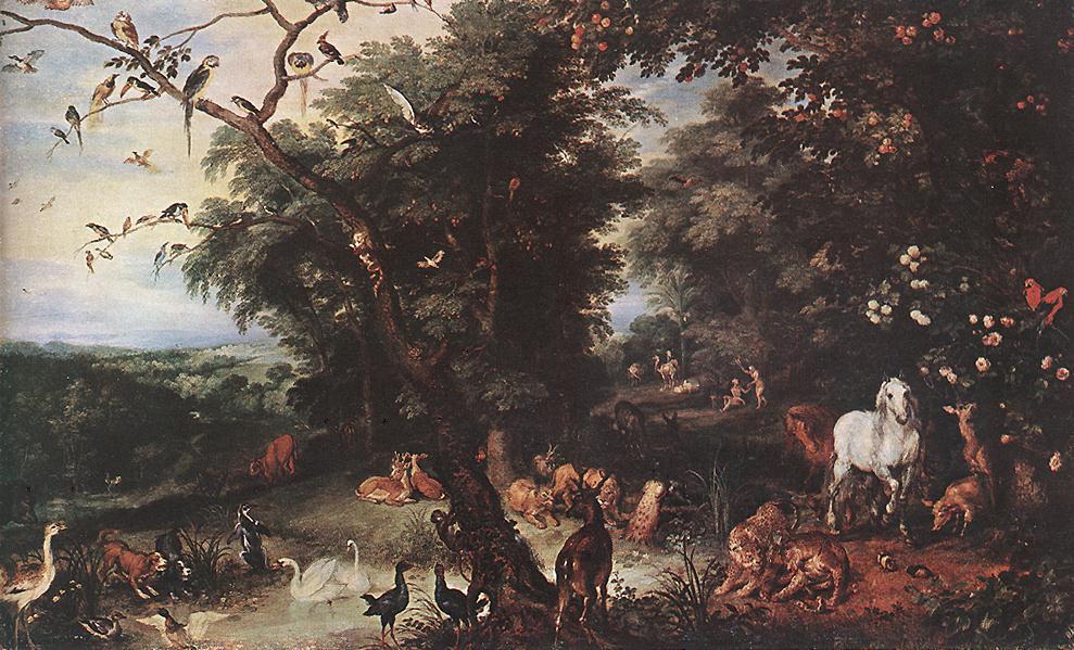 The Original Sin 1616 | Jan The Elder Brueghel | Oil Painting