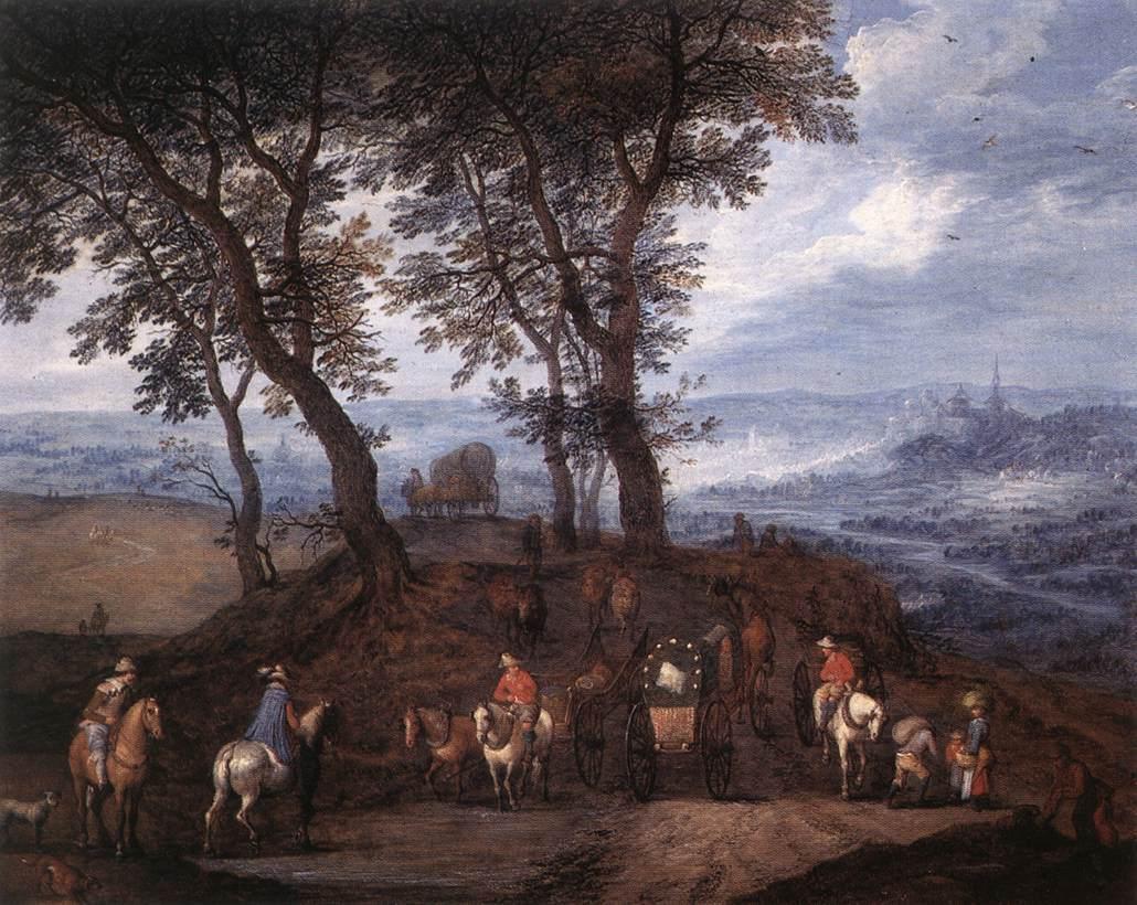 Travellers On The Way | Jan The Elder Brueghel | Oil Painting