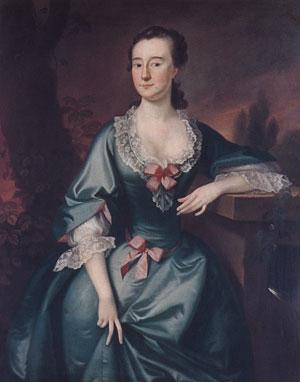 Mrs David Chesebrough 1754   Joseph Blackburn   Oil Painting
