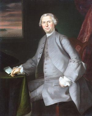 Samuel Cutts 1762   Joseph Blackburn   Oil Painting