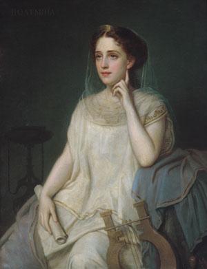 Polyhymnia 1869 | Joseph Fagnani | Oil Painting