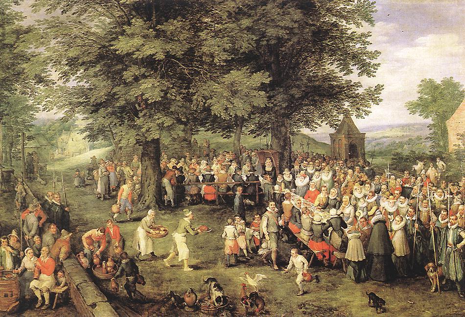 Wedding Banquet | Jan The Elder Brueghel | Oil Painting