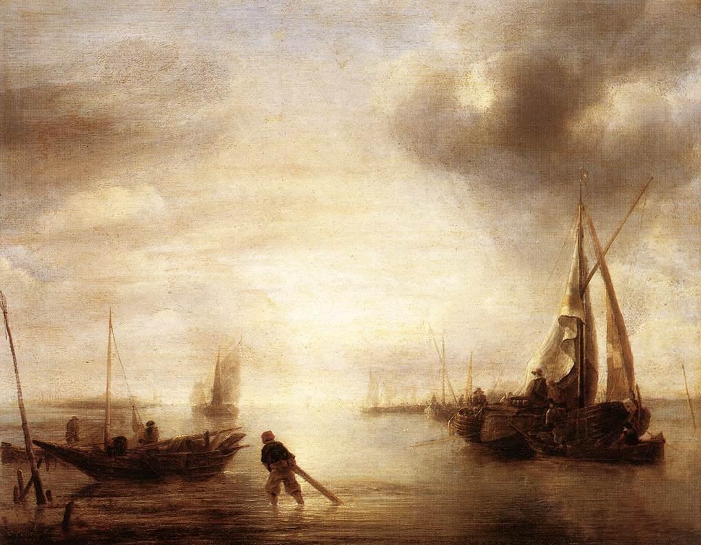 Calm 1650-55 | Jan Van de Capelle | Oil Painting