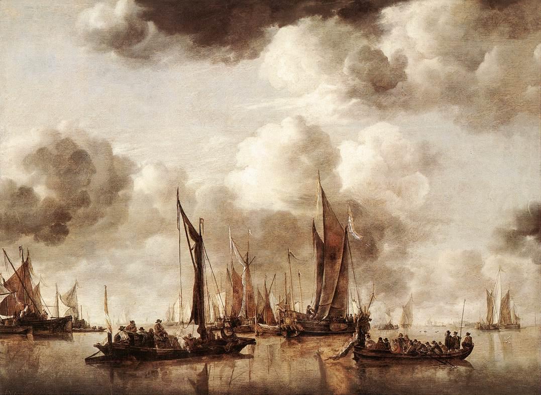 Dutch Yacht Firing A Salvo 1650 | Jan Van de Capelle | Oil Painting