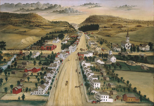 View of Poestenkill New York 1870 | Joseph H Hidley | Oil Painting