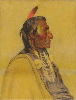 Wolf Ear Sioux | Joseph H Sharp | Oil Painting